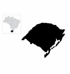 rio grande do sul state vector image