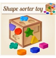 Shape sorter toy Cartoon vector image