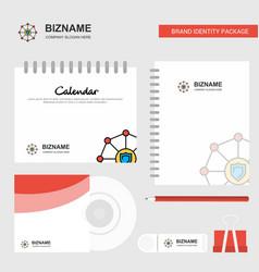 Sheild protected logo calendar template cd cover vector