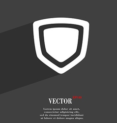 shield icon symbol Flat modern web design with vector image