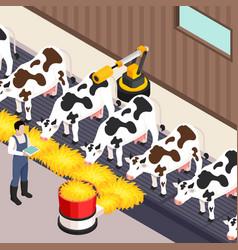 Smart farm set vector