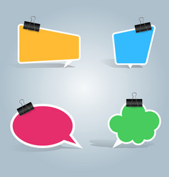 speech bubbles clip pin icon dialog box info vector image