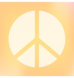 Template of square peace symbol banner vector image