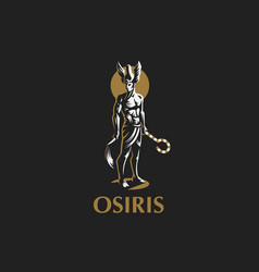 the egyptian god osiris emblem vector image