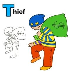 Thief Coloring book page vector image