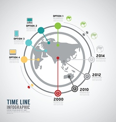 Timeline Infographic world design template vector image