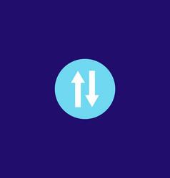 Transfer icon logo design vector