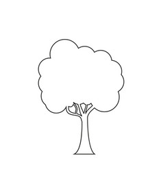 trees line icon on the white background vector image