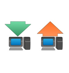 uploading downloading vector image