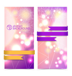 vertical abstract banner set vector image