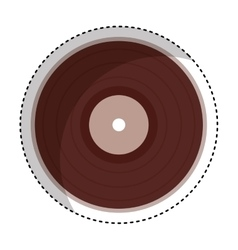 vinyl audio retro icon vector image