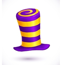 Violet and yellow colors striped realistic vector image