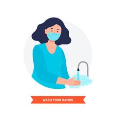 Wash often your hands coronavirus alert vector