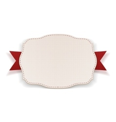White Banner with red Ribbon vector image