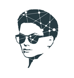 Woman in sunglasses vector