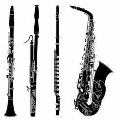 woodwind musical instruments vector image