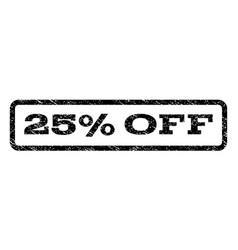 25 percent off watermark stamp vector image