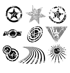 distressed shapes vector image