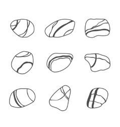 icon set of sea stones vector image