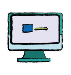 monitor computer screen page web vector image vector image