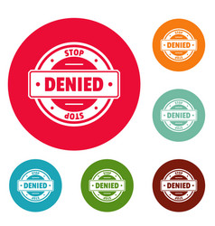 stop logo simple style vector image vector image