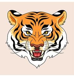 tiger tattoo green vector image vector image