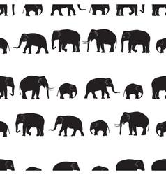 black elephants walking seamless pattern eps10 vector image vector image