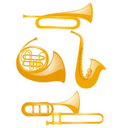 different types of musical instruments vector image