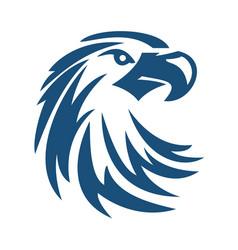eagle or hawk bird logo abstract design vector image vector image