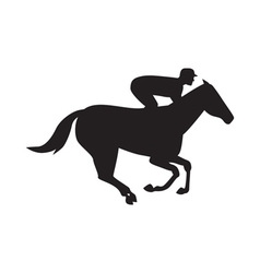 Horse Racing Side Silhouette vector image vector image