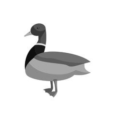 Mallard duck icon black monochrome style vector image