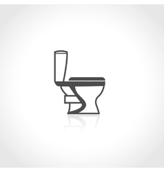 Plumbing icon toilet bowl vector image