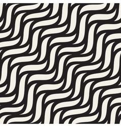Seamless hand drawn diagonal wavy shapes vector