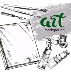 Paint background vector image vector image