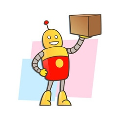 robot courier vector image vector image