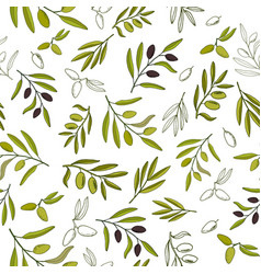 seamless olive pattern vector image vector image