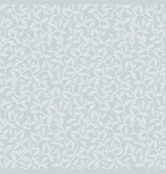 silver grey leaves and branches seamless vector image