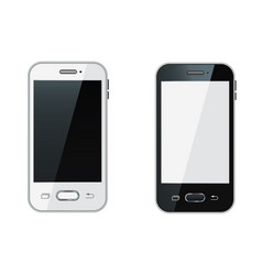 smartphone realistic mobile phone vector image