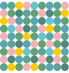 tile pattern with pink yellow and green polka dot vector image vector image