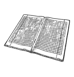 checkered notebook vector image vector image