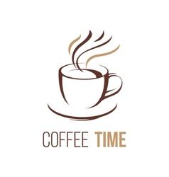 coffee lofo template vector image vector image