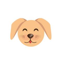 cute face dog animal cheerful vector image