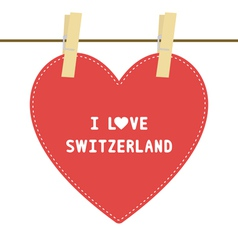 I lOVE SWITZERLAND6 vector image vector image