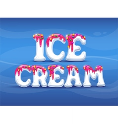 ogo icecream summer candy vector image