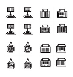 price tag set and barcode design set vector image