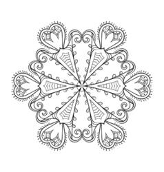 Zentangle elegant snow flake winter for decoration vector image vector image
