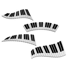 3d keyboard piano vector image