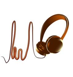 Abstract headphones vector