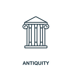 Antiquity icon from italy collection simple line vector
