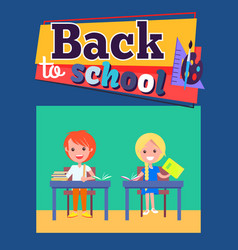 back to school poster with inscription and palette vector image